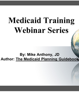 Medicaid Planner Course and Medicaid Guidebook